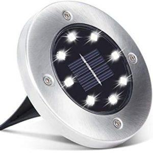Соларна Убодна Светилка 8 диоди